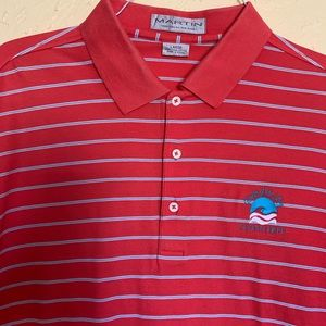 Men's Martin Red striped polo shirt